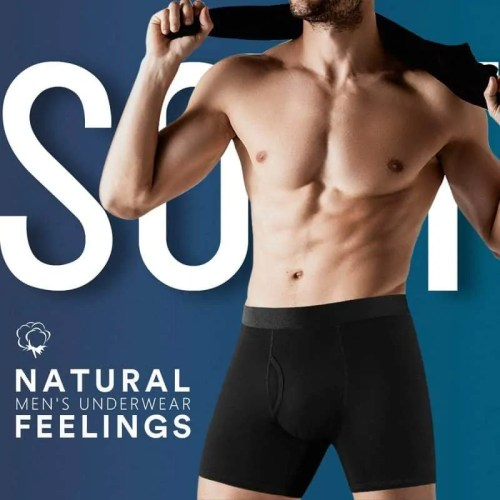 Natural Feelings Boxer Shorts Mens Underwear for Men Soft Cotton Trunk Pack of 5 Boxer Briefs