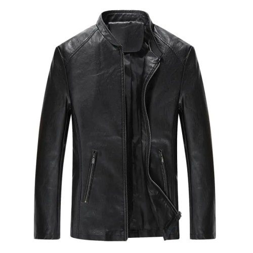 Faux Leather Mens Biker Jacket