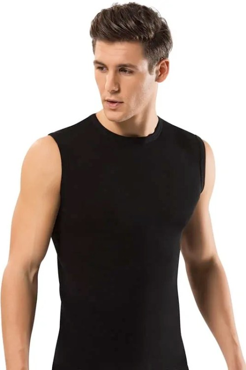 Men 100% Cotton Solid Straight Male Breathable Sleeveless Tops Slim Casual Undershirt Mens Gift By Turk Cotton