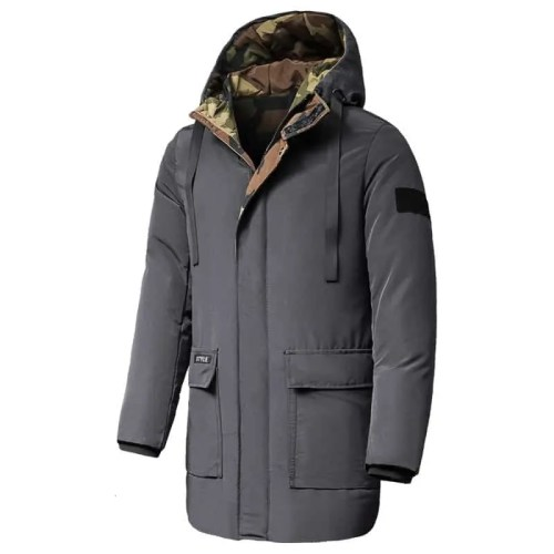Bearboxers Mens Long Casual Hooded Parka