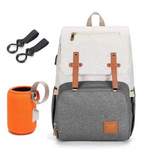 New Mum USB Charging Waterproof Stroller Bag