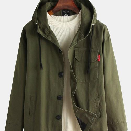 Men's New Japanese Large Size Hooded Loose Jacket