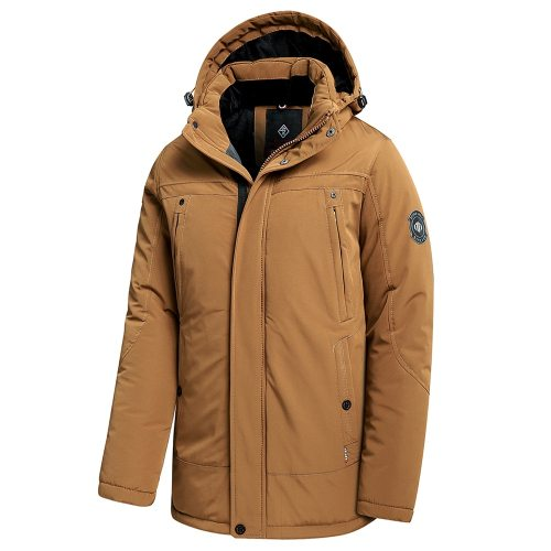 Bearboxers Thick Fleece Hooded Waterproof Parka Coat