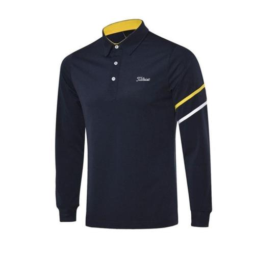 Men's T-shirt Autumn Sports Golf Apparel Long Sleeve Shirt Breathable Quick Dry Polo-shirt for Men
