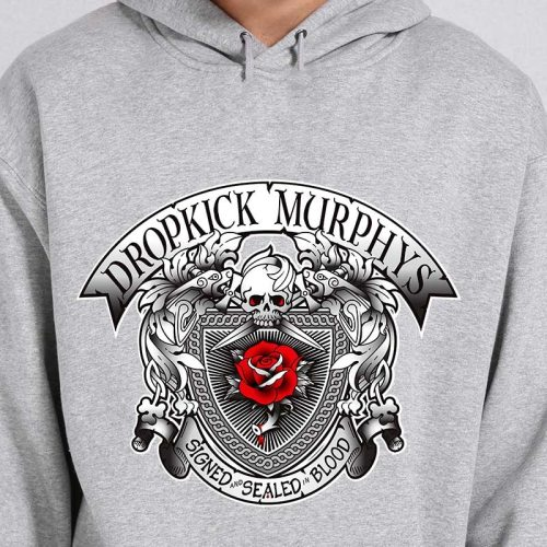 Dropkick Murphys Mens Signed And Sealed Hoodie