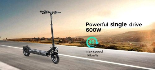 Blue Pigeon T4 Off Road Electric Scooter 10 inch Pneumatic Tire Speed 28mph Motor 600W for Adult