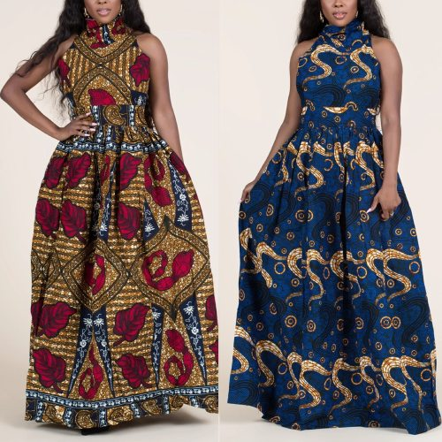 MD African Print Ankara Dashiki Dress