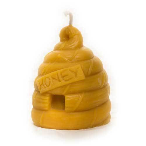 Pure Natural Pure Beeswax Bear /& Skep Candle bees wax