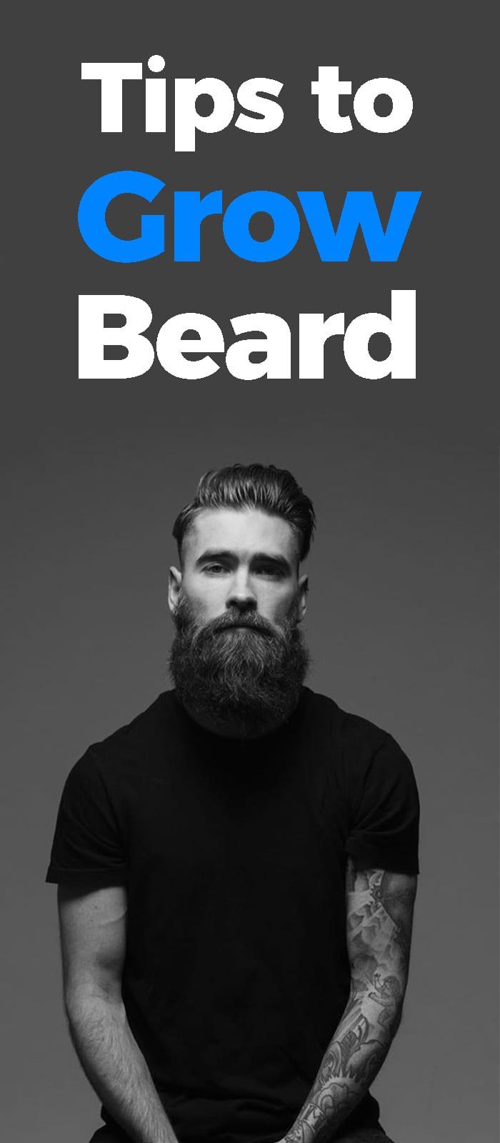 Tip To Grow A Beards.