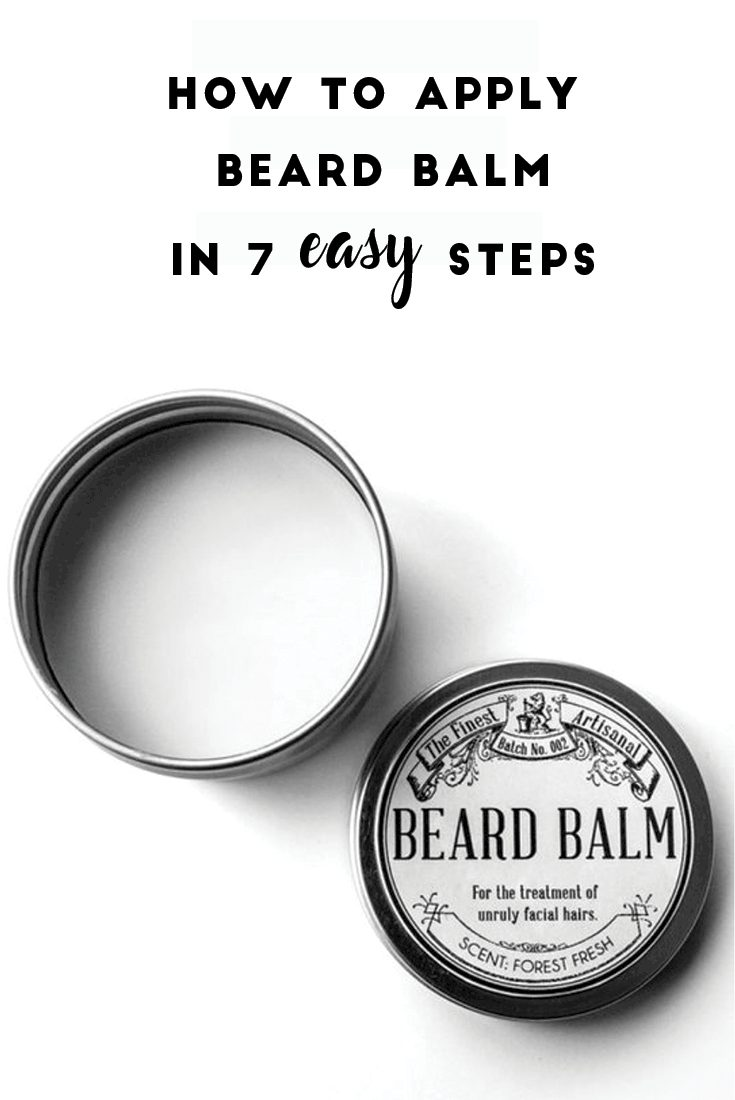 How to Apply Beard Balm in 7 easy step