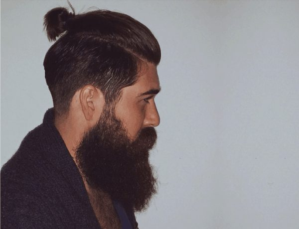 10 Beards For The Ponytail Hairstyle Looks