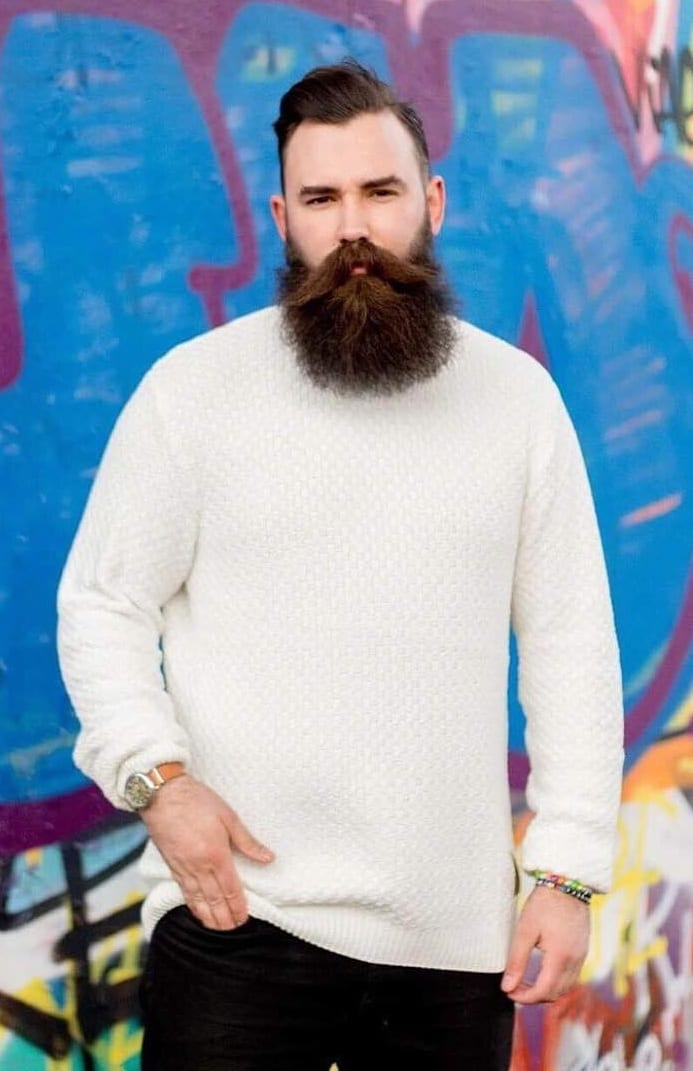 Aggressive Beard with short hairstyles for men