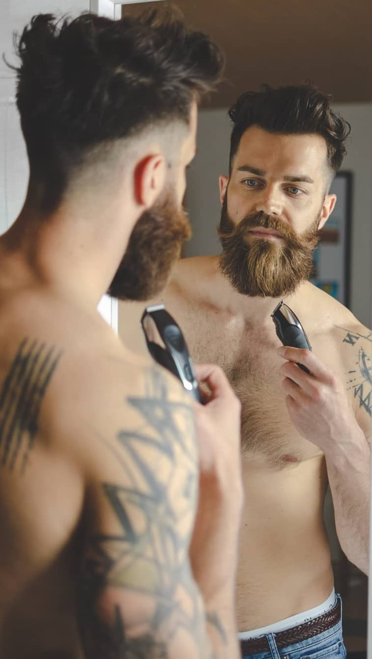 Beard Grooming in Real Time.