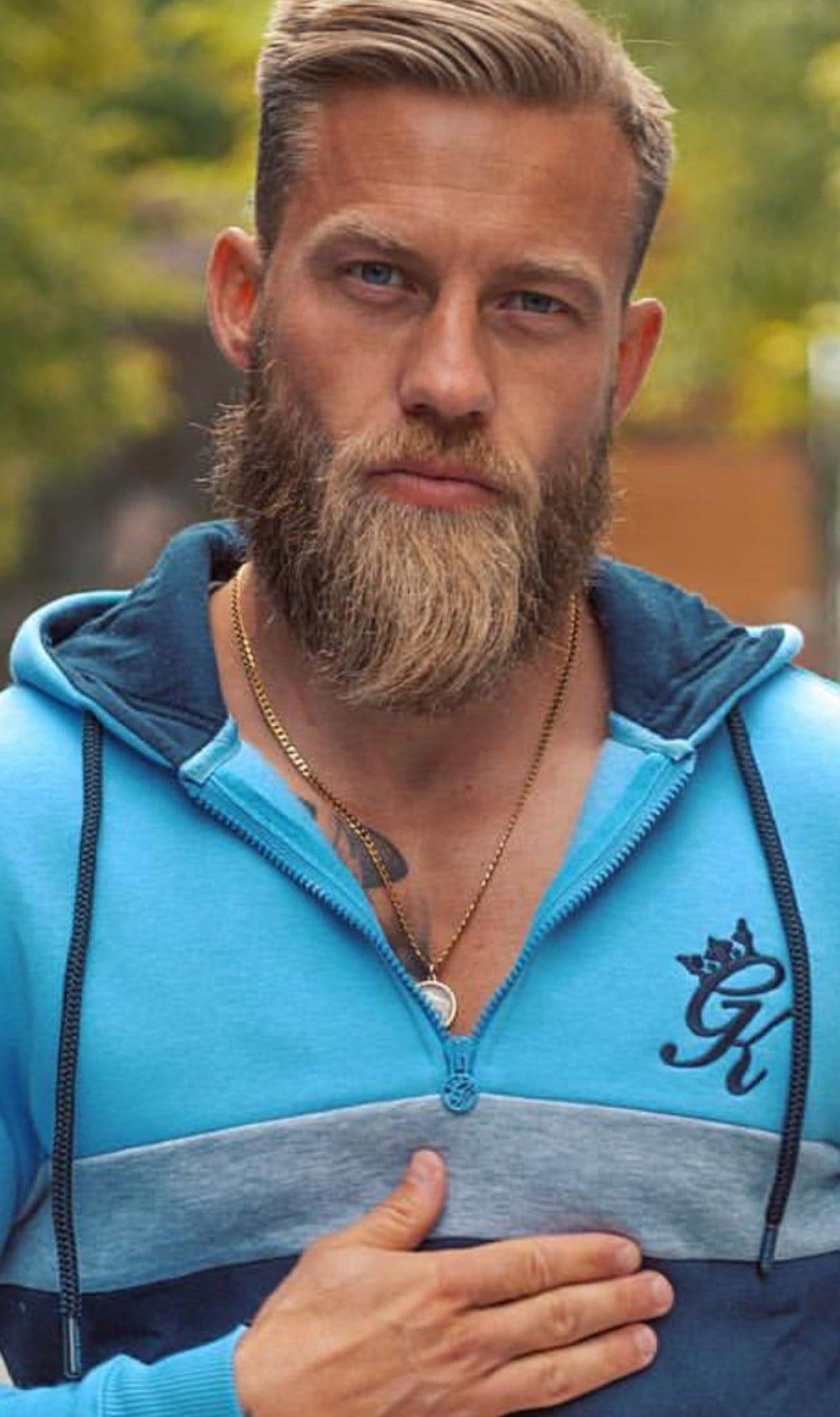 Blue Zipper Matured yet Sexy Ducktail Beard