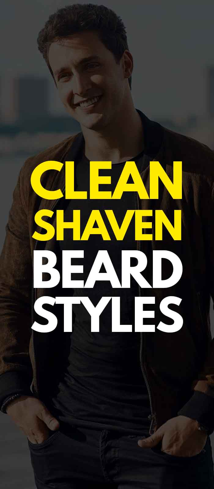 Clean Shaven look for men in jacket!
