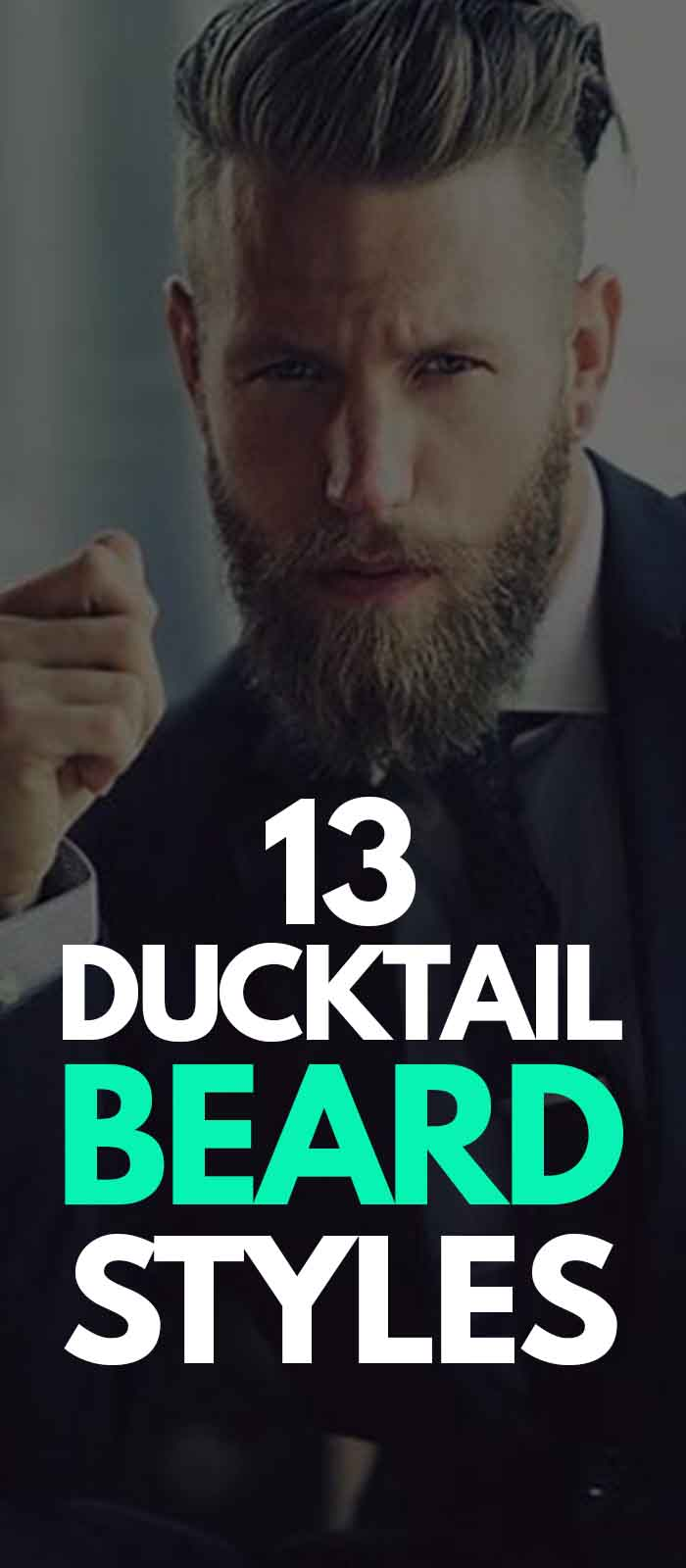 Ducktail Curly Beard look for men!
