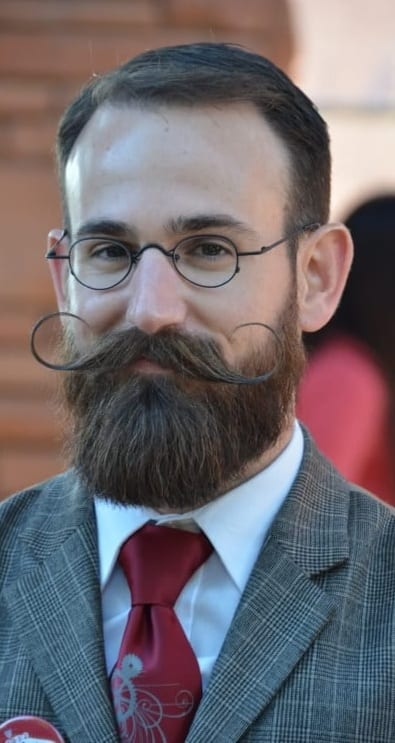 Extreme Curl Vintage Handlebar Mustache