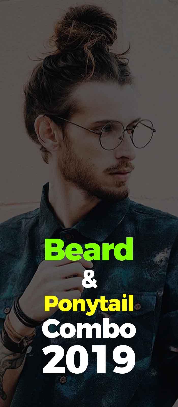 Full Man Bun Ponytail and beard ideas!