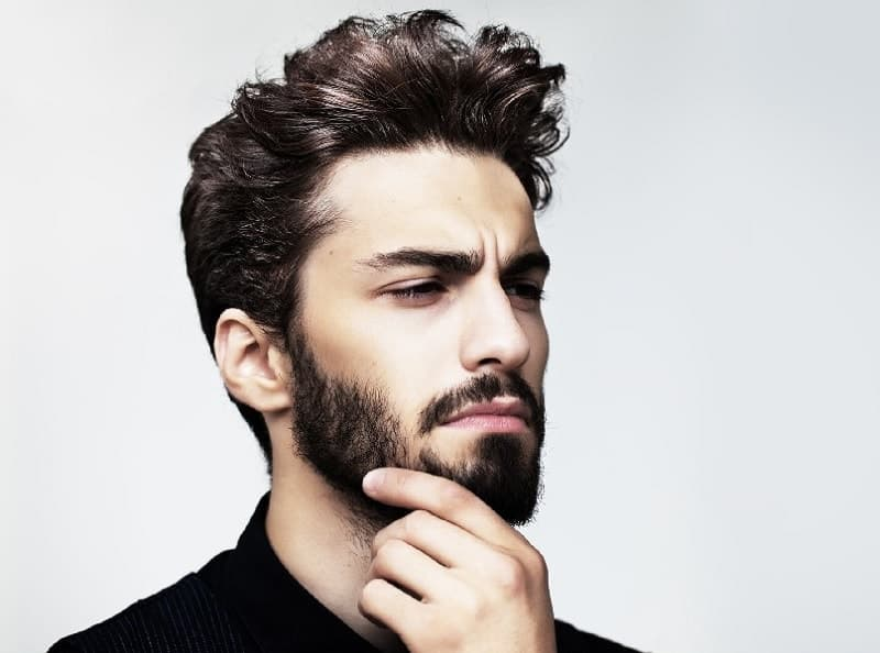 Full Stubble beard style for men