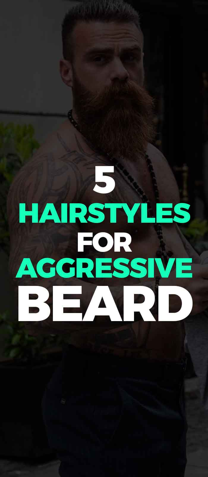 Long beard long mustache,short hairstyle for men!
