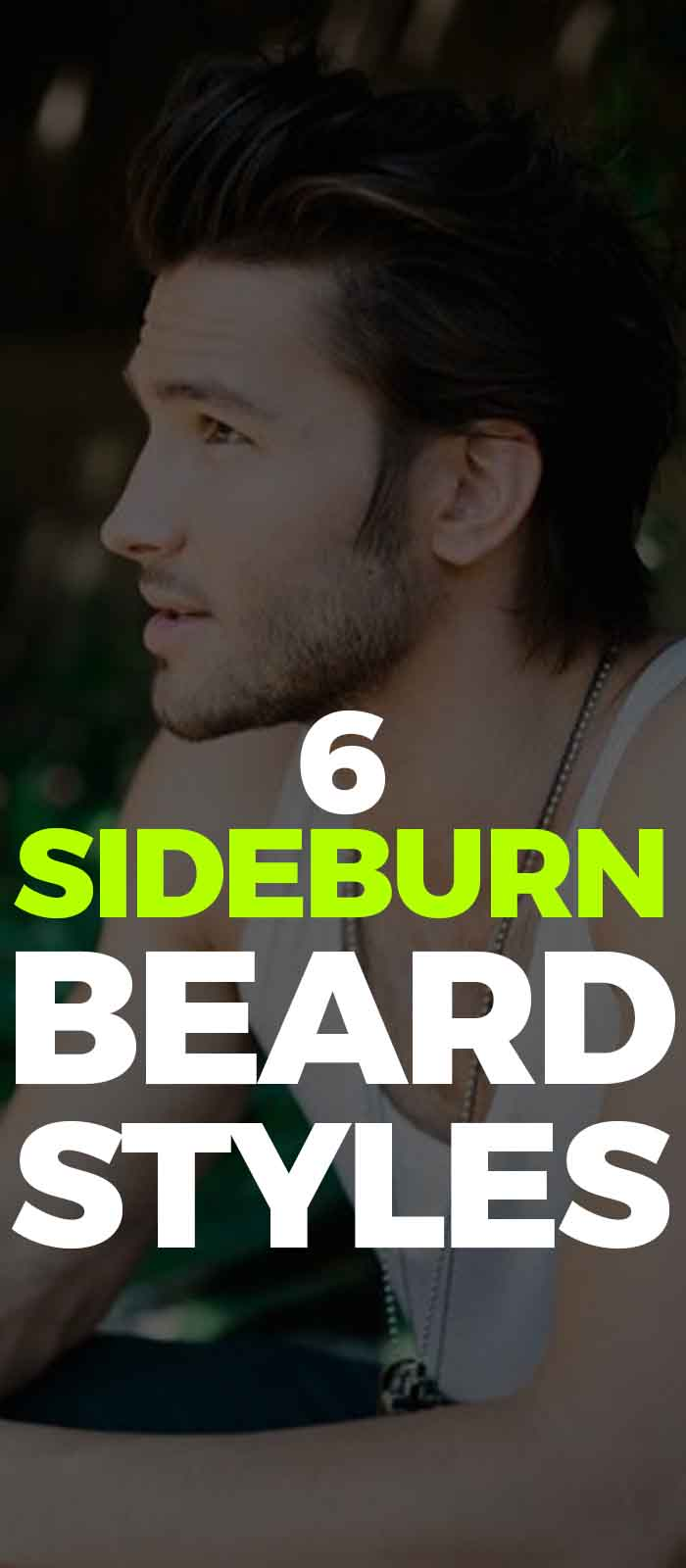 Medium Length Sideburn style for men!