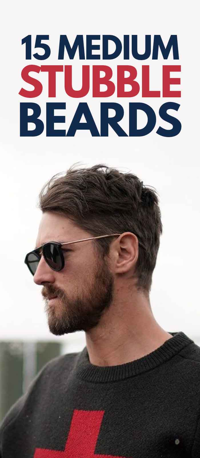 Medium Stubble beard styling for men!