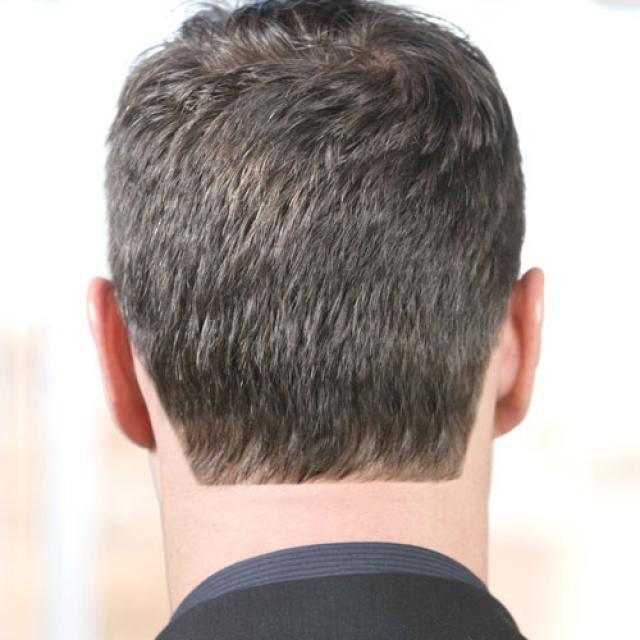 Men beard nape neck