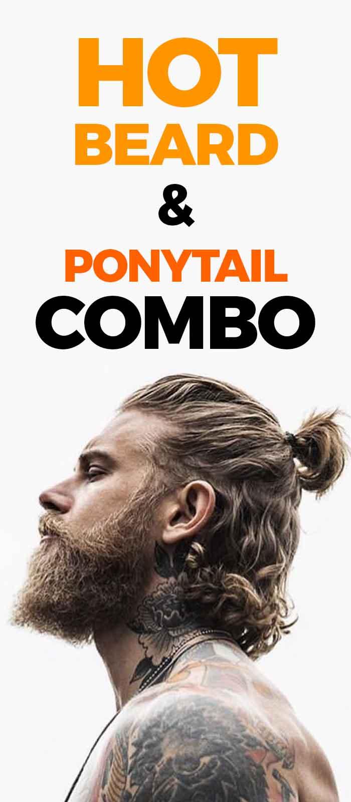 Short Ponytail With beard for men!