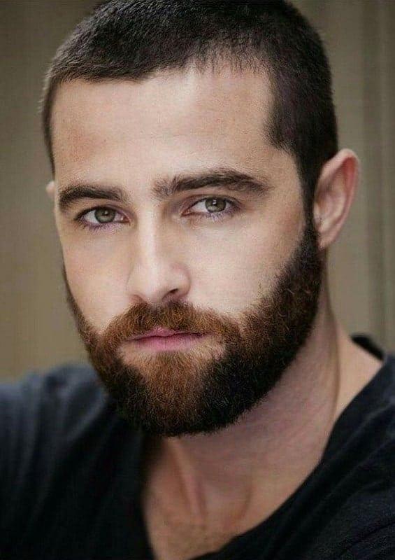 Stubble beard style for men