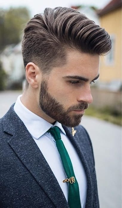 Suit Look for men with Medium Stubble beard