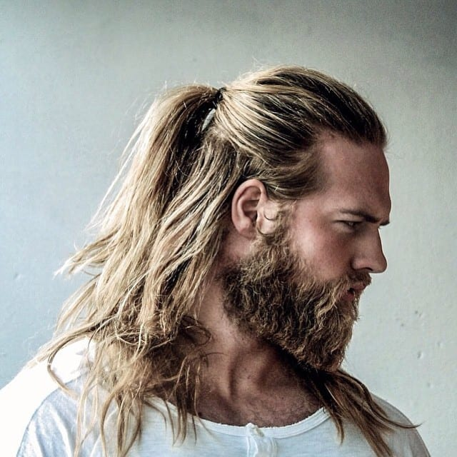 aggressive-beard-with-pony-tail