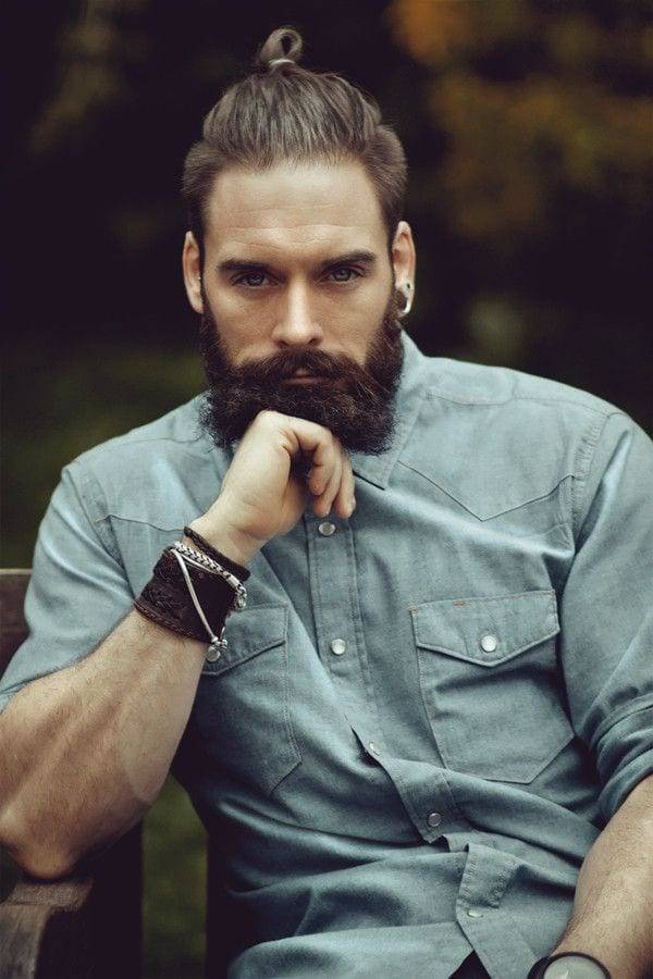 bandholz-beard-with-plain-shirt-2-pockets