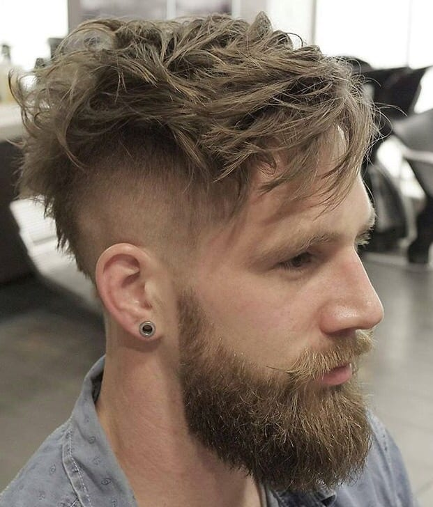 long top short sides hairstyle