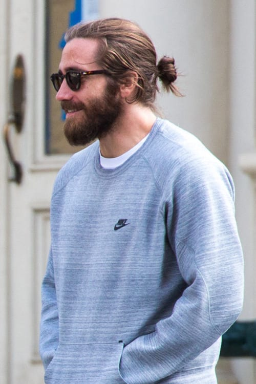 man-bun-for-long-stubble
