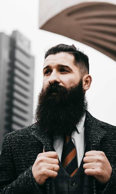 Black long beard styles for men