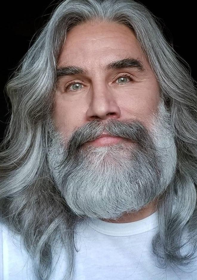 Amazing Grey Hair With Beard
