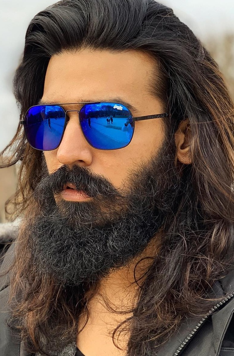 Beard and Long Hairstyle for Men