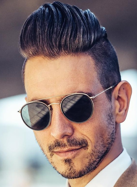 Cool Pompadour Rocked With Beard