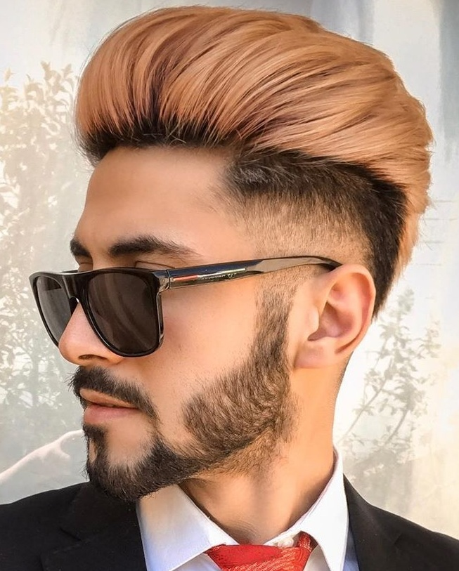Trendy Fade Haircut with Beard for Men