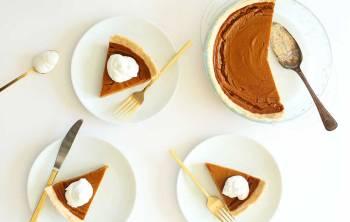 Vegan + Gluten Free Pumpkin Pie via Minimalist Baker