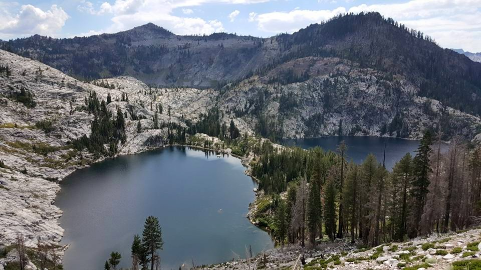 Emerald Lake and Sapphire Lake, Caribou Lakes Trail, Trinity Alps Wilderness, California