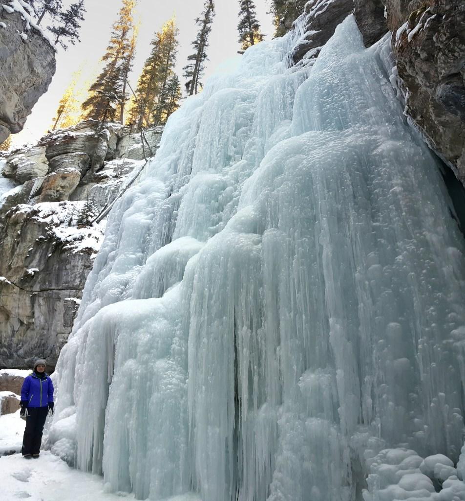 Fifteen Top Winter Activities in Alberta, Superman's Lair in Maligne Canyon