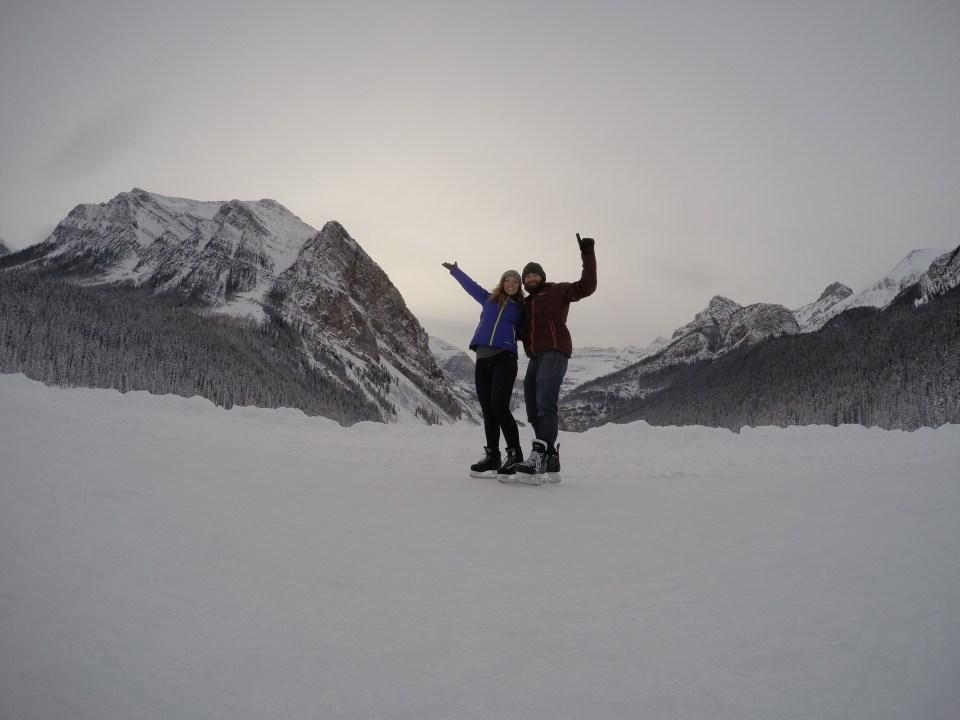 Fifteen Top Winter Activities in Alberta, Ice Skating on Lake Louise, Alberta, Canada