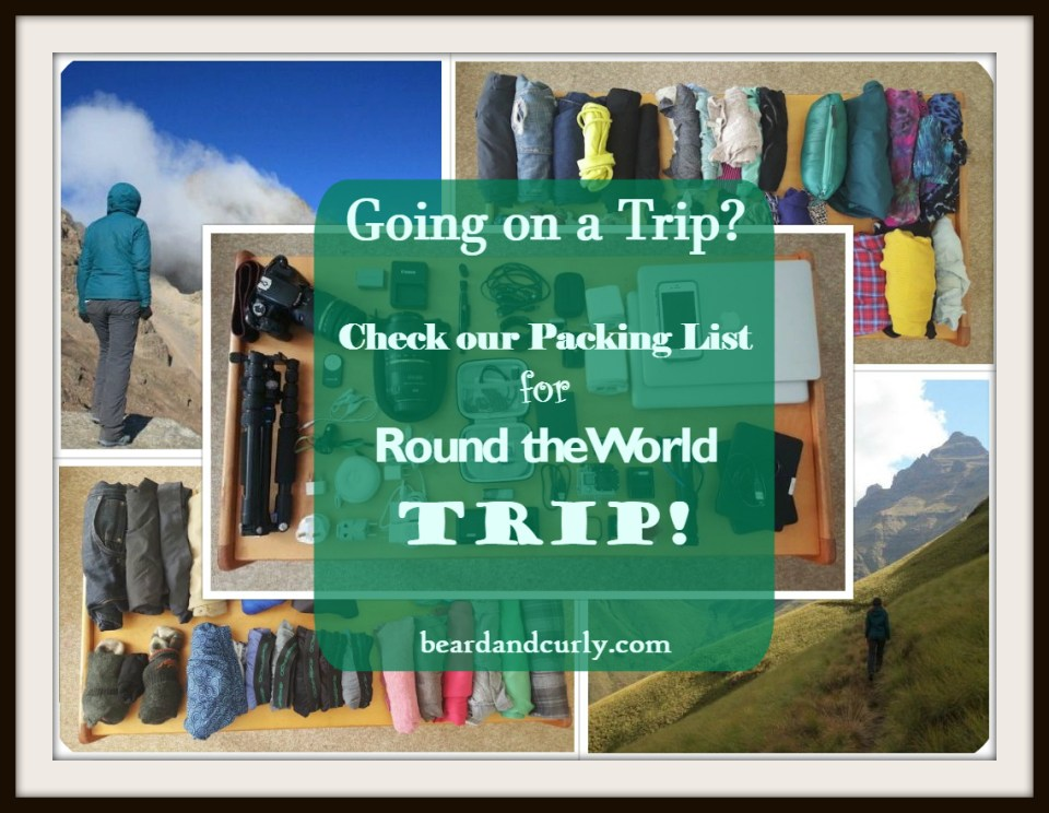 Packing List for Round the World Trip