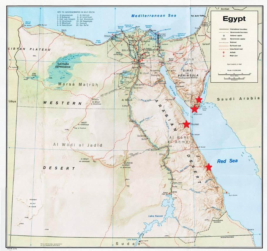 Dahab Scuba Diving - Map of egypt dahab