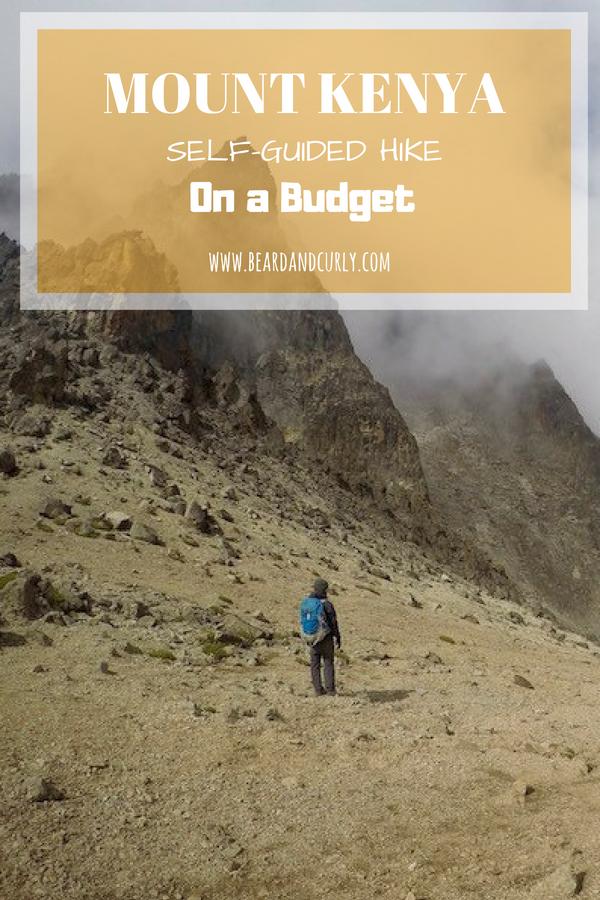 How to Hike Mount Kenya Self-Guided and on a Budget. Budget Hiking, Mount Kenya, Naro Moru, Sirimon, Peak Lenana, Sunrise Hike. #hiking #trekking #backpacking #kenya www.beardandcurly.com