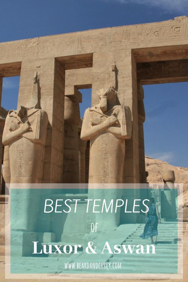 The Best Temples of Luxor and Aswan, Egypt, Alexandria, Nile, Luxor, Aswan, Cairo, Dahab, Scuba, Red Sea, White Desert, Egypt, Middle East #egypt #travel #tourism #backpacking www.beardandcurly.com