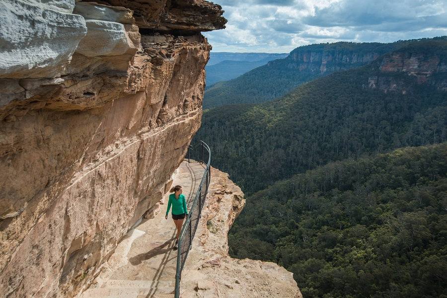 New South Wales, Sydney Itineraries, Blue Mountains, National Pass, Wentworth Falls, www.beardandcurly.com