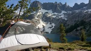 Camping at Iceberg Lake