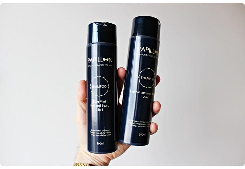 Papillon 2 in 1 Shampoos – recenzja szamponów do brody i włosów